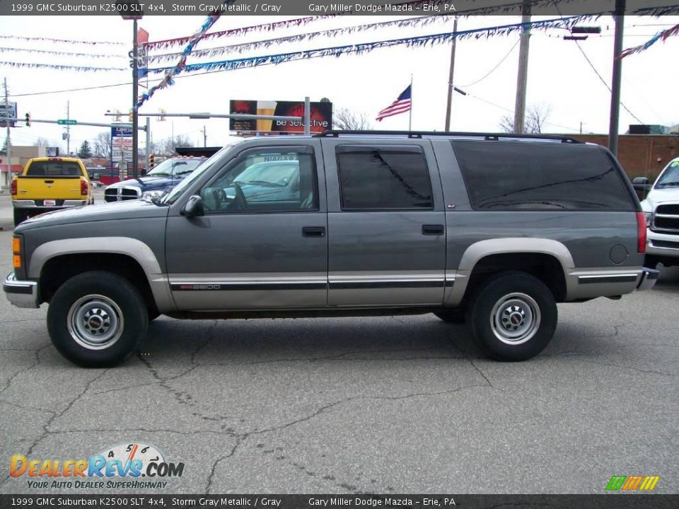 1999 gmc suburban k2500 slt 4x4 storm gray metallic gray photo 2. Black Bedroom Furniture Sets. Home Design Ideas