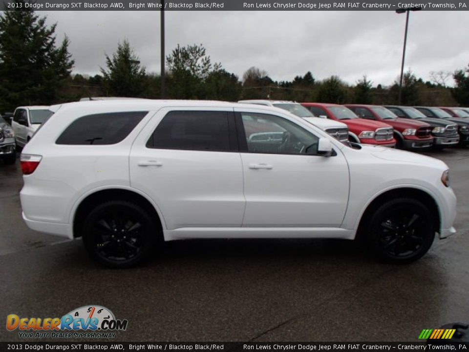 2013 dodge durango sxt blacktop awd bright white blacktop black red photo 5. Black Bedroom Furniture Sets. Home Design Ideas