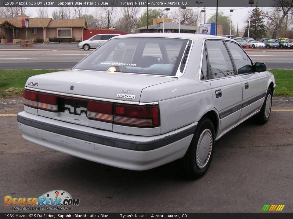 1989 Mazda 626 Dx Sedan Sapphire Blue Metallic Blue