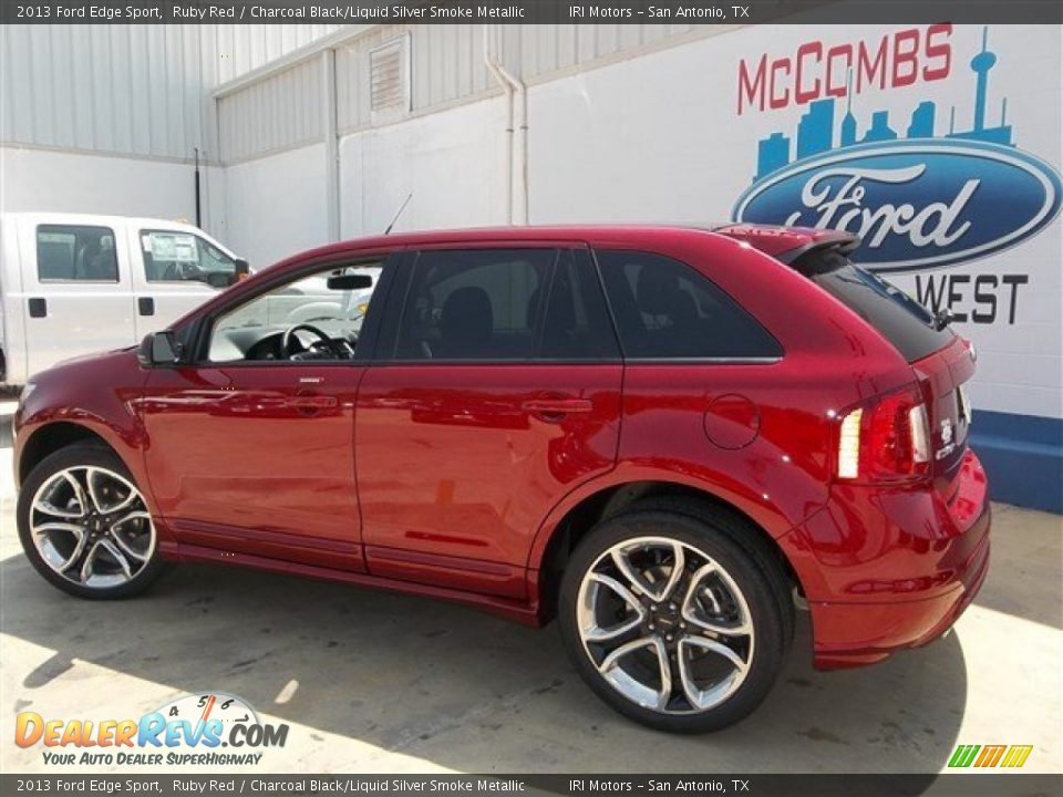 Ford edge sport ruby red wifi