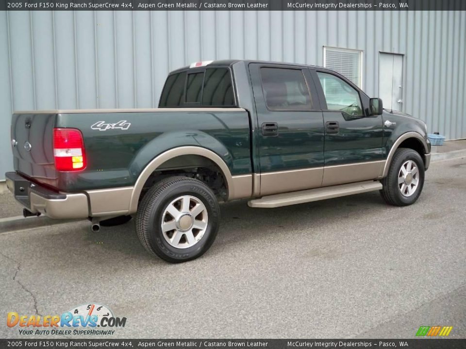2005 Ford F150 King Ranch Supercrew 4x4 Aspen Green Metallic Castano Brown Leather Photo 3