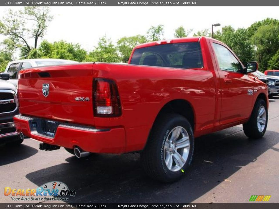 2013 Ram 1500 Sport Regular Cab Flame Red / Black Photo #3