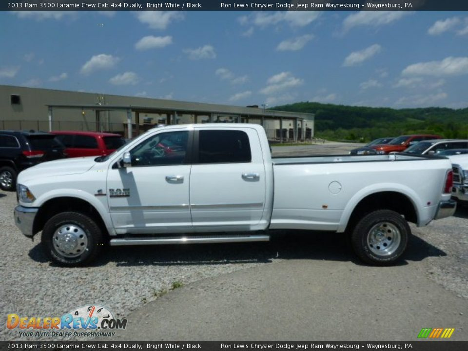 2013 Ram 3500 Laramie Crew Cab 4x4 Dually Bright White / Black Photo #2