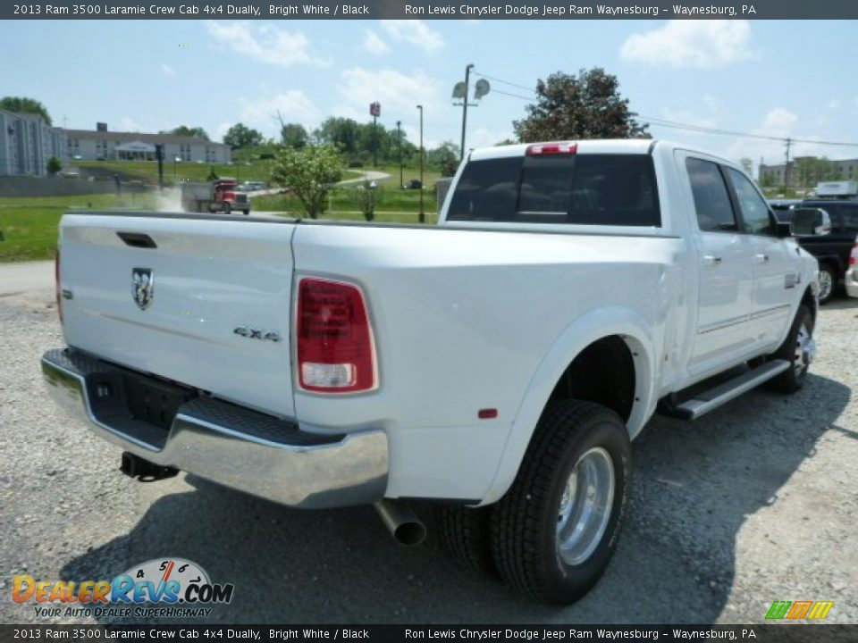 2013 Ram 3500 Laramie Crew Cab 4x4 Dually Bright White / Black Photo #6