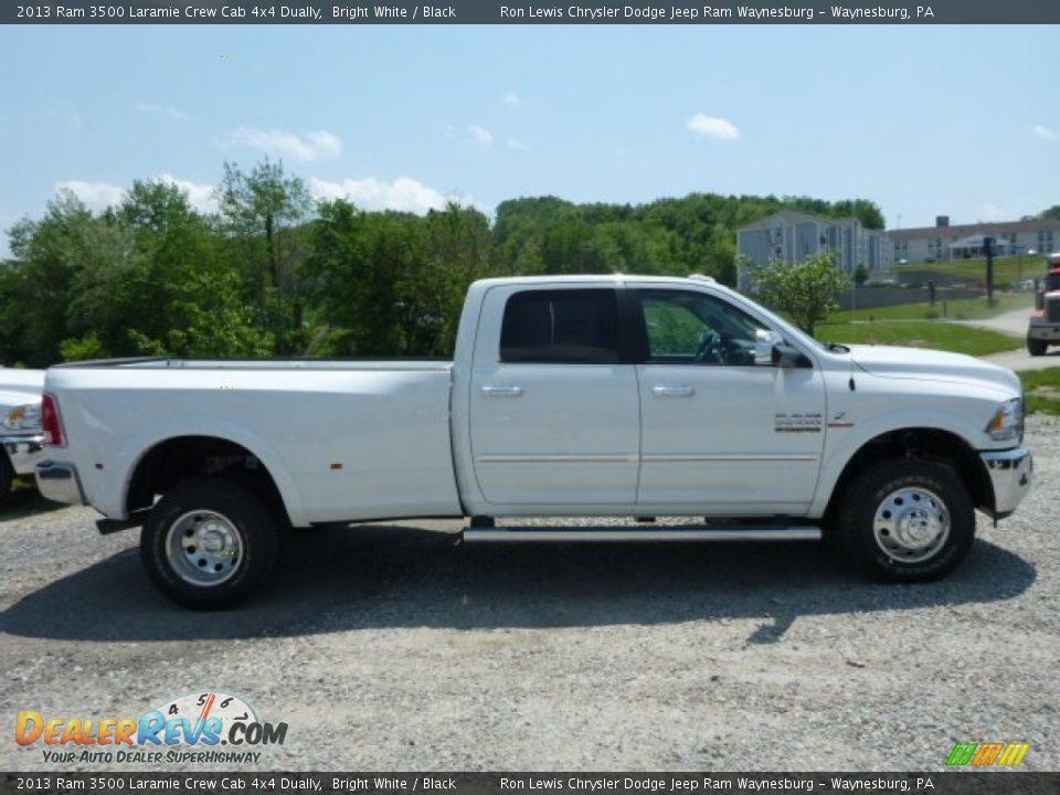 2013 Ram 3500 Laramie Crew Cab 4x4 Dually Bright White / Black Photo #7