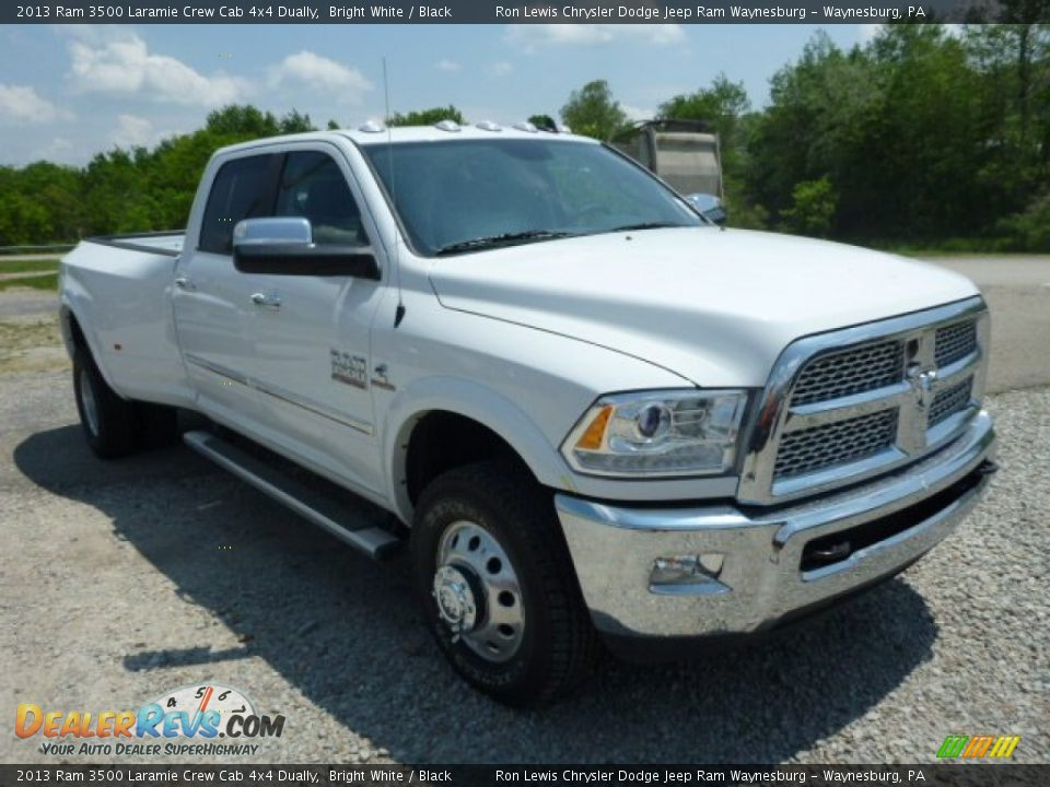 2013 Ram 3500 Laramie Crew Cab 4x4 Dually Bright White / Black Photo #8