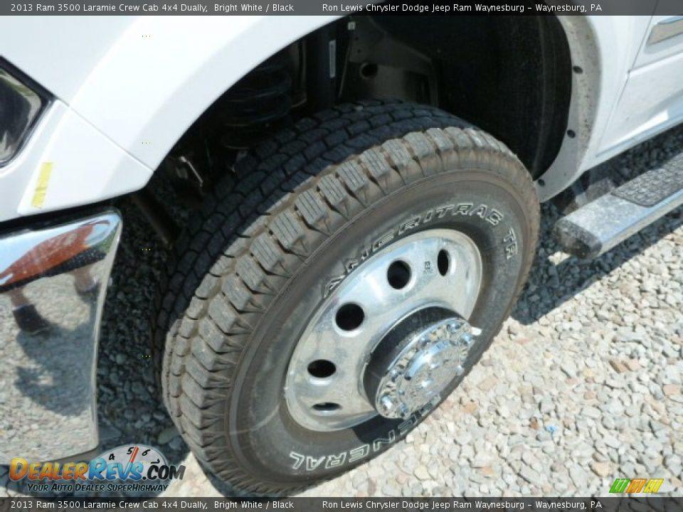 2013 Ram 3500 Laramie Crew Cab 4x4 Dually Bright White / Black Photo #10