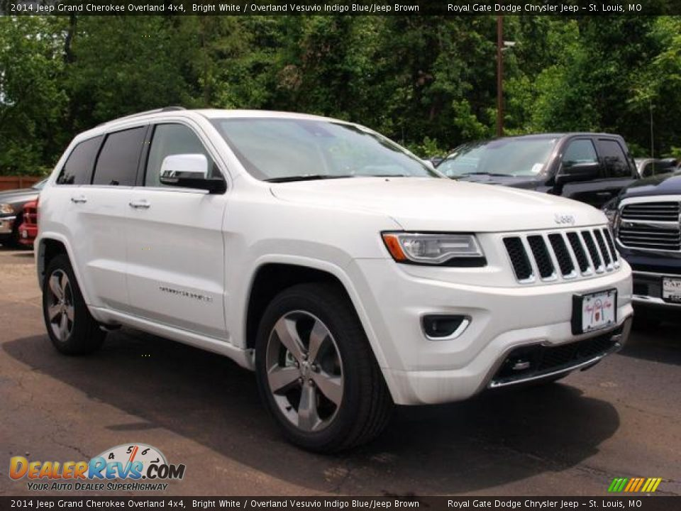 2014 jeep grand cherokee overland 4x4 bright white overland vesuvio indigo blue jeep brown. Black Bedroom Furniture Sets. Home Design Ideas