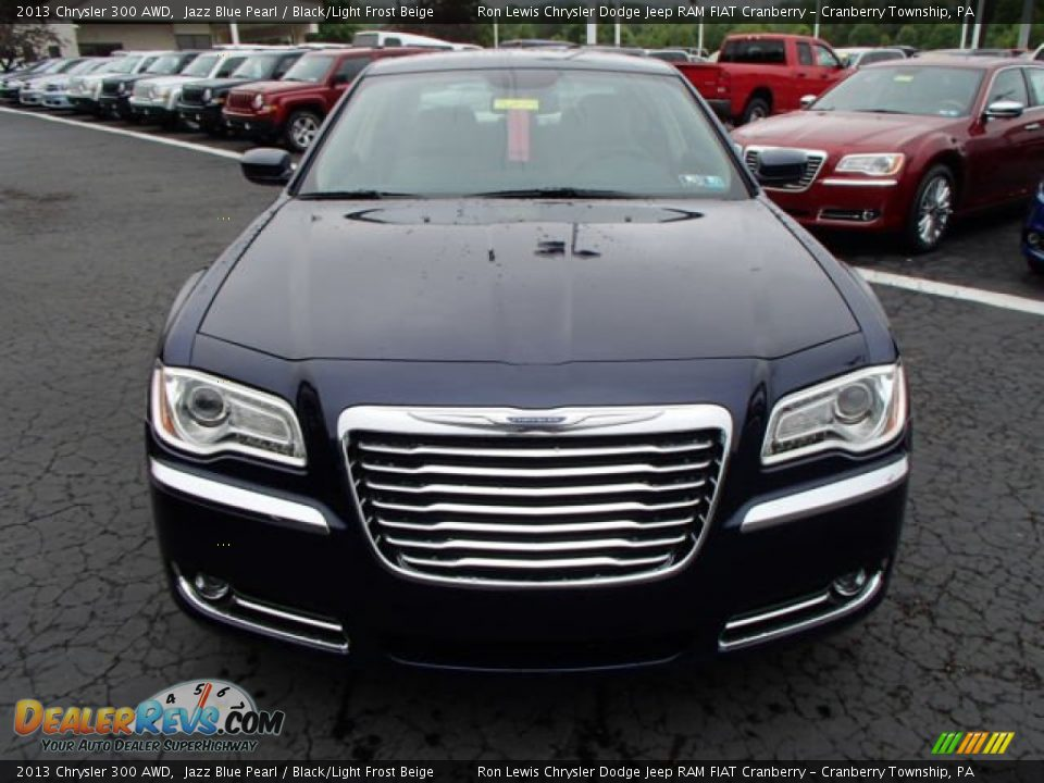 2013 Chrysler 300 AWD Jazz Blue Pearl / Black/Light Frost Beige Photo #3