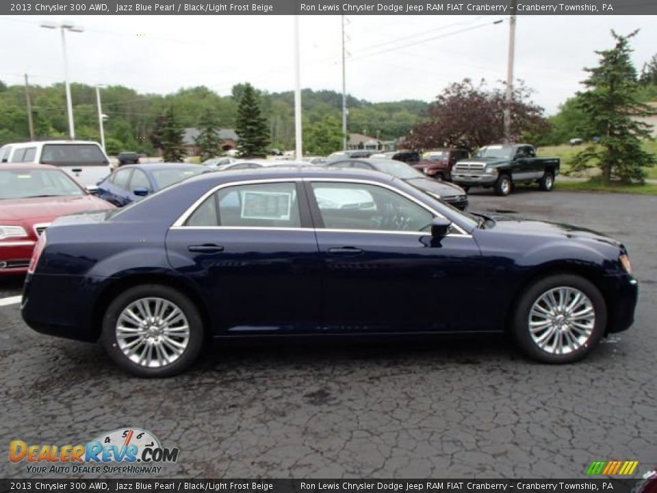 2013 Chrysler 300 AWD Jazz Blue Pearl / Black/Light Frost Beige Photo #5