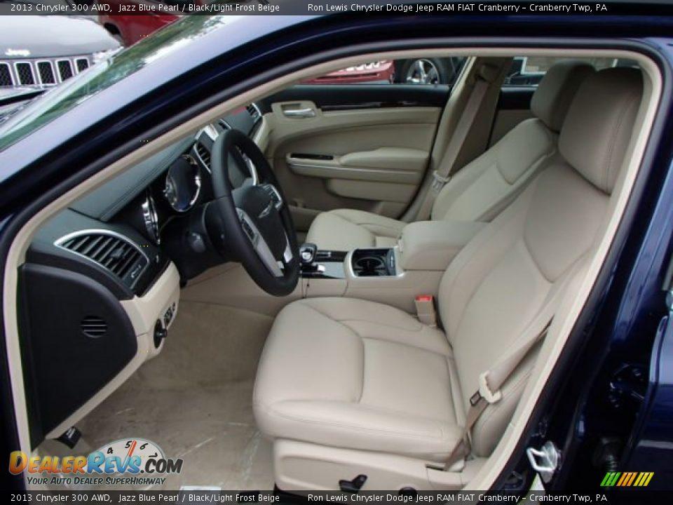 2013 Chrysler 300 AWD Jazz Blue Pearl / Black/Light Frost Beige Photo #11