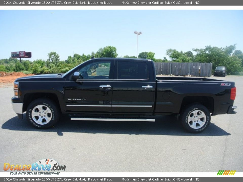 2014 chevrolet silverado 1500 ltz z71 crew cab 4x4 black jet black photo 3. Black Bedroom Furniture Sets. Home Design Ideas