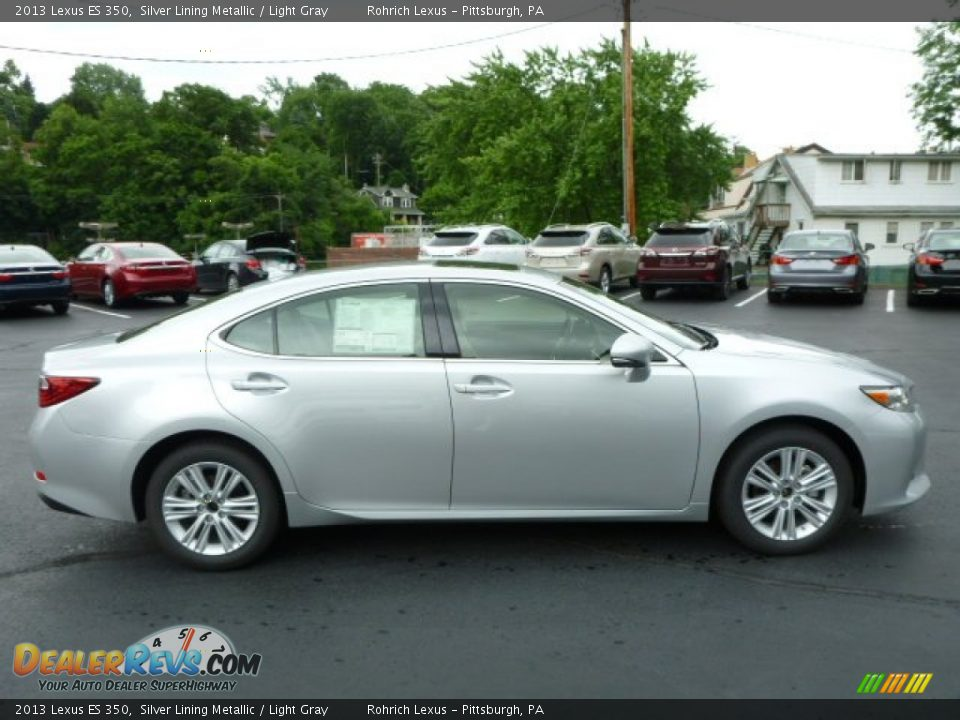 2013 Lexus ES 350 Silver Lining Metallic / Light Gray Photo #5 ...