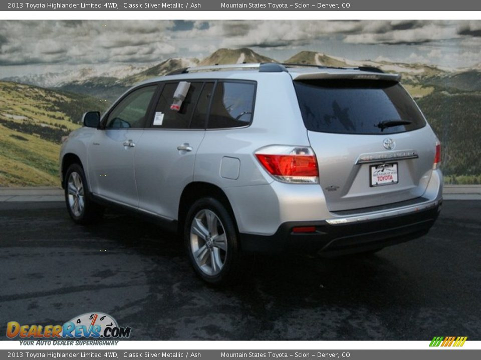 2013 Toyota Highlander Limited 4wd Classic Silver Metallic
