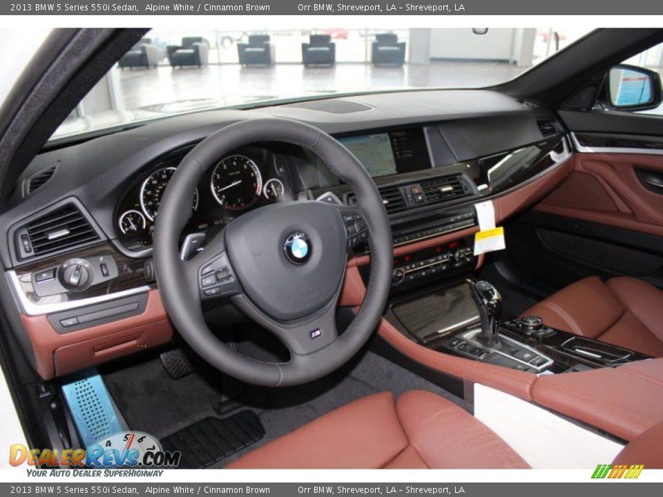 Cinnamon Brown Interior 2013 Bmw 5 Series 550i Sedan Photo 15