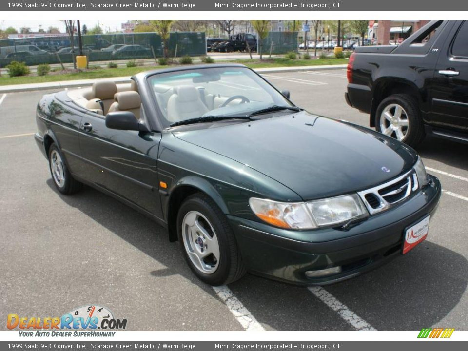 1999 saab 9 3 convertible scarabe green metallic warm beige photo 3. Black Bedroom Furniture Sets. Home Design Ideas