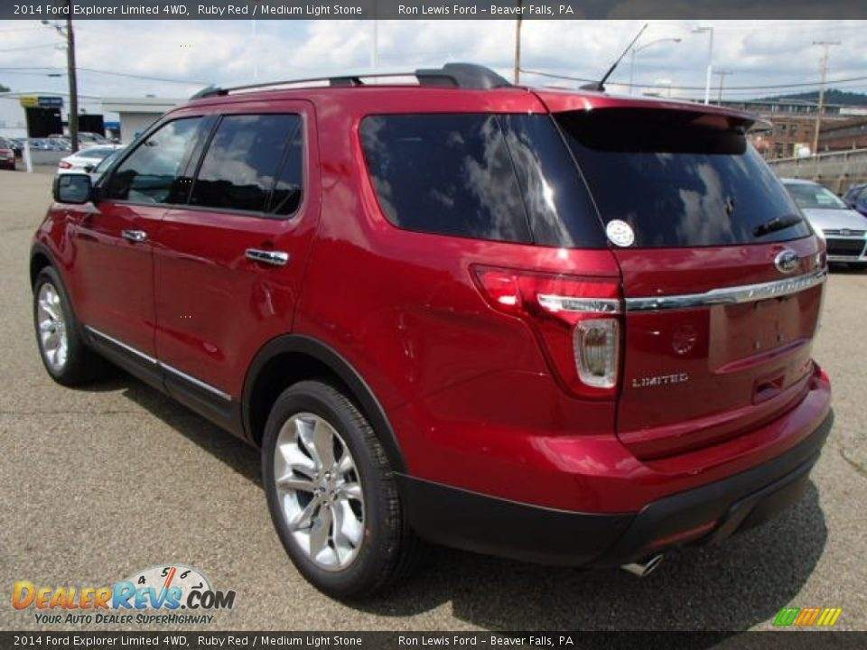 2014 Ford Explorer Limited 4WD Ruby Red / Medium Light