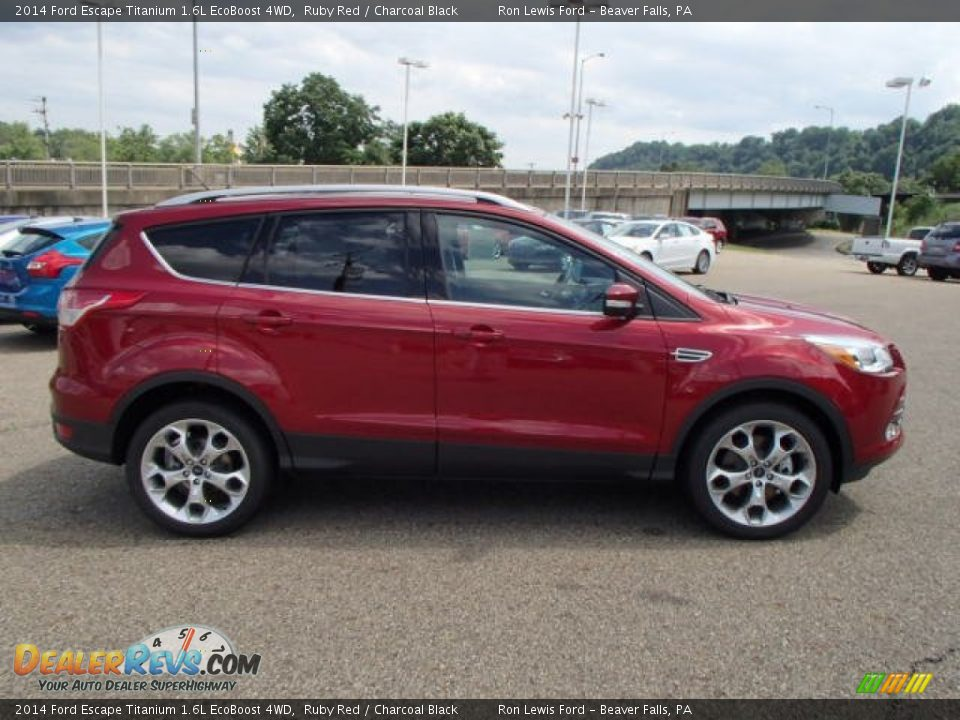 2014 ford escape titanium 1 6l ecoboost 4wd ruby red charcoal black photo 1. Black Bedroom Furniture Sets. Home Design Ideas