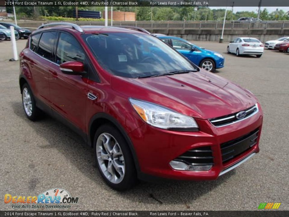 2014 ford escape titanium 1 6l ecoboost 4wd ruby red charcoal black photo 2. Black Bedroom Furniture Sets. Home Design Ideas