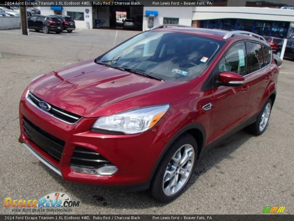 2014 ford escape titanium 1 6l ecoboost 4wd ruby red charcoal black photo 4. Black Bedroom Furniture Sets. Home Design Ideas