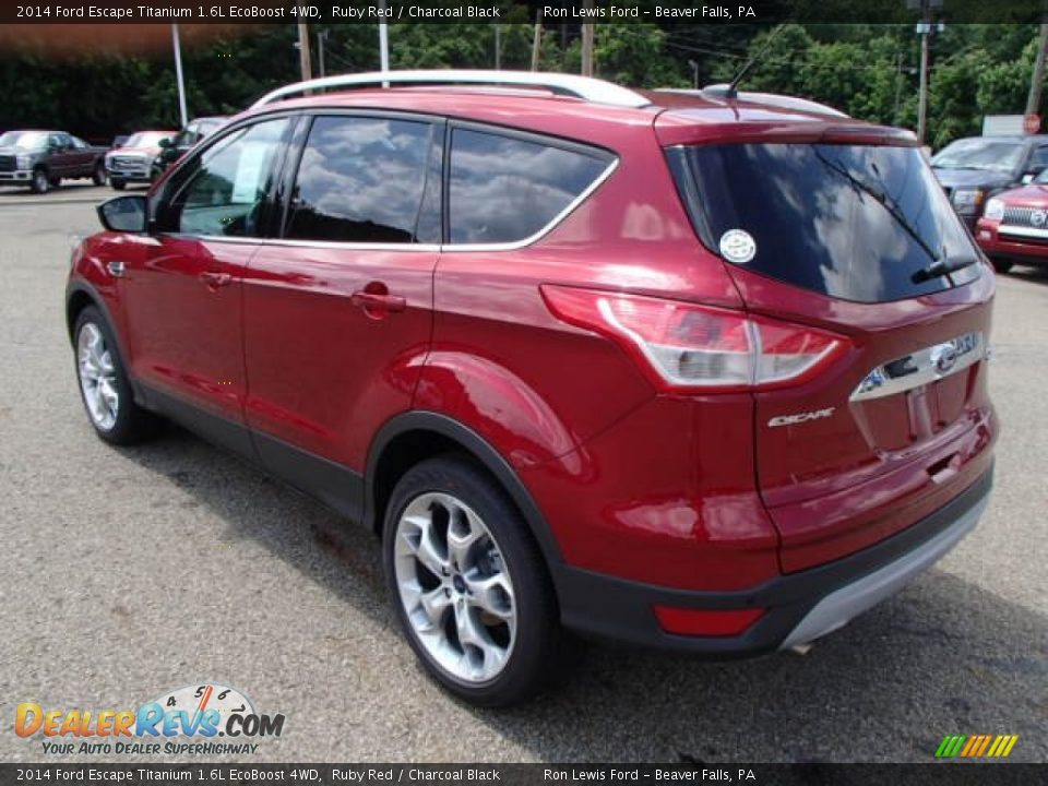 2014 ford escape titanium 1 6l ecoboost 4wd ruby red charcoal black photo 6. Black Bedroom Furniture Sets. Home Design Ideas