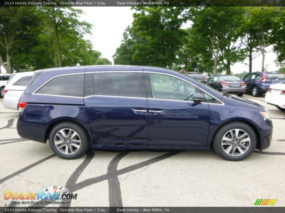 obsidian blue pearl 2014 honda odyssey touring photo 2