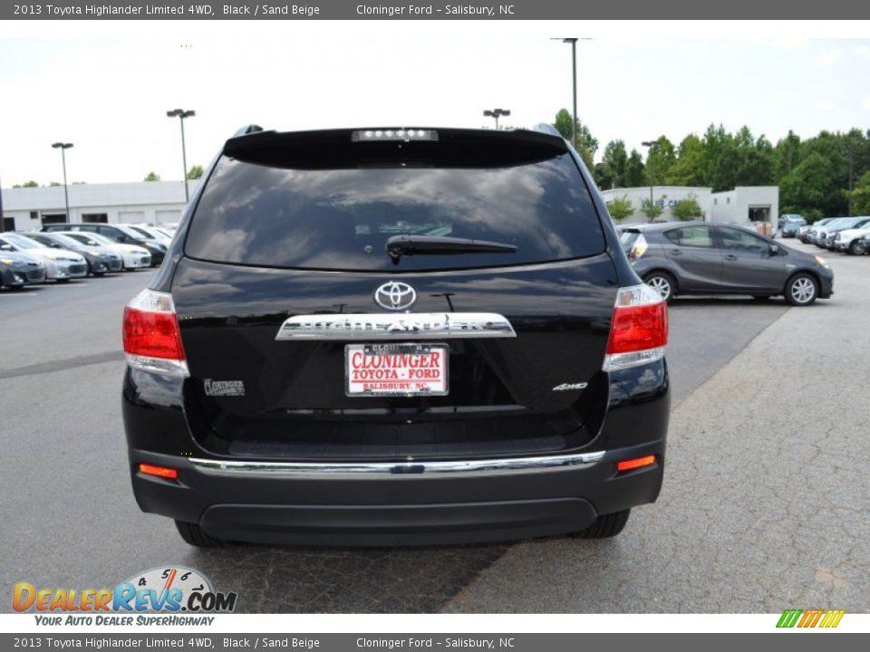 2013 Toyota Highlander Limited 4wd Black Sand Beige