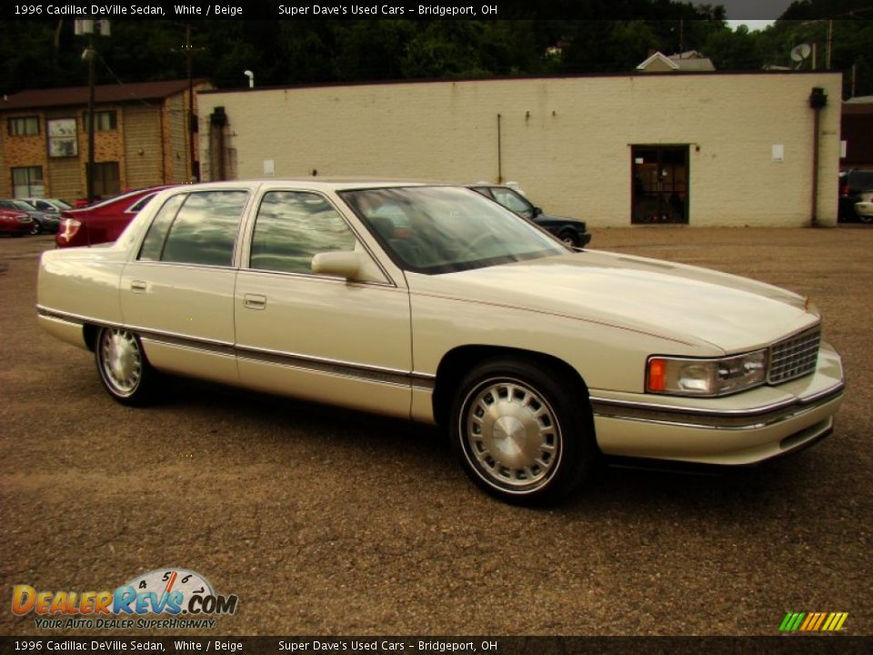 1996 cadillac deville sedan white beige photo 9. Cars Review. Best American Auto & Cars Review