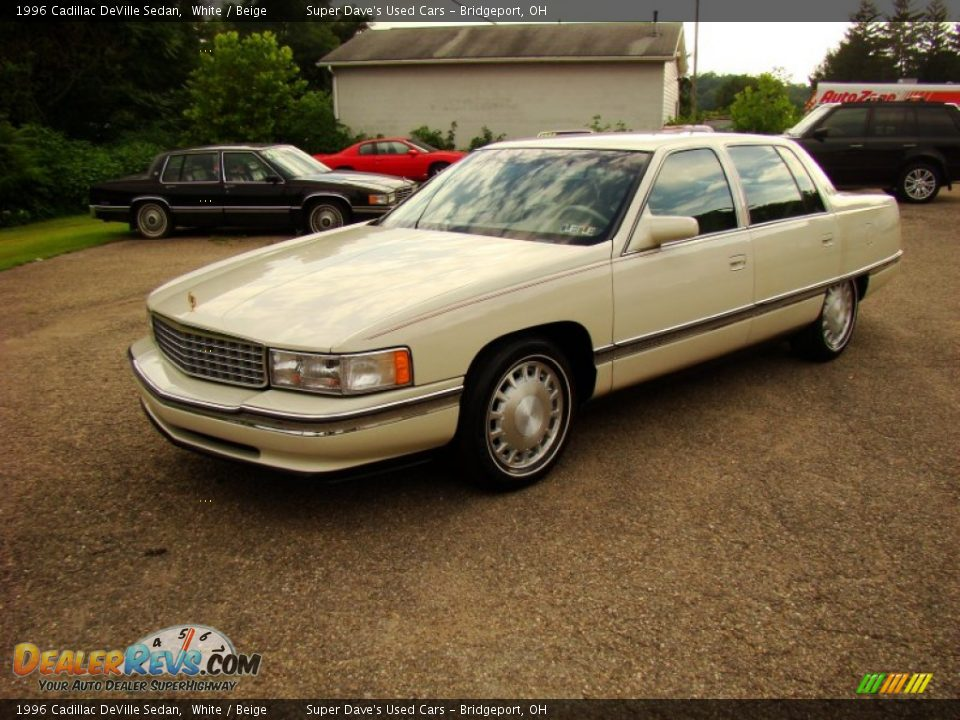1996 cadillac deville sedan white beige photo 13. Cars Review. Best American Auto & Cars Review
