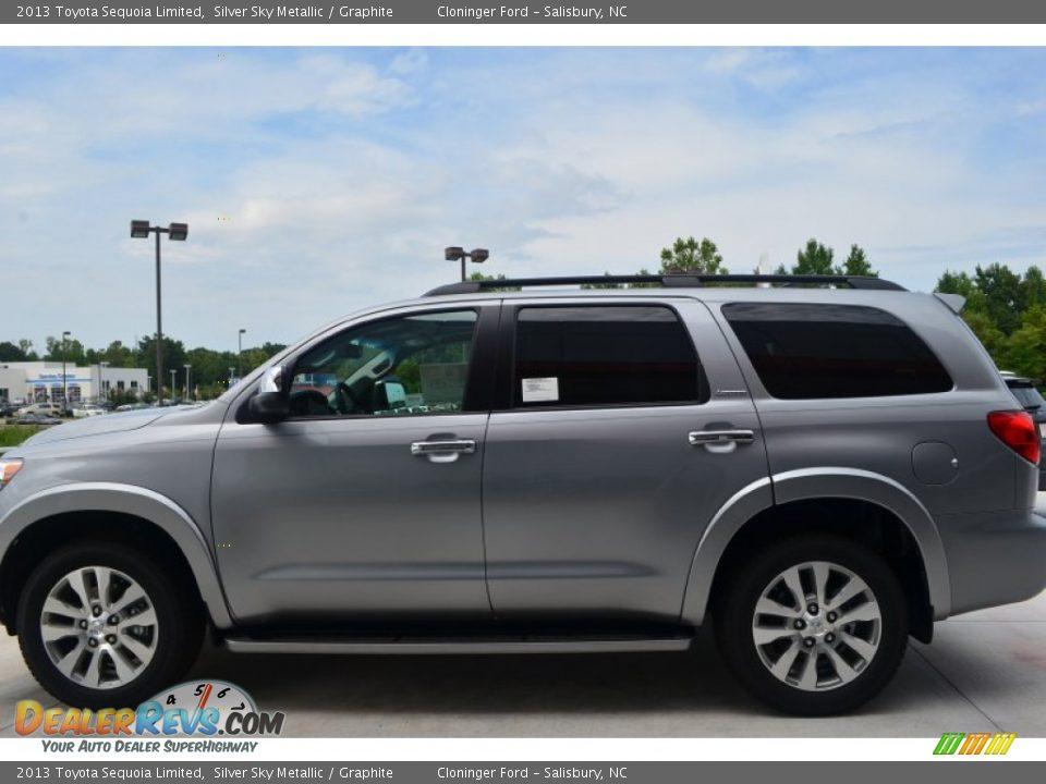 2013 Toyota Sequoia Limited Silver Sky Metallic Graphite