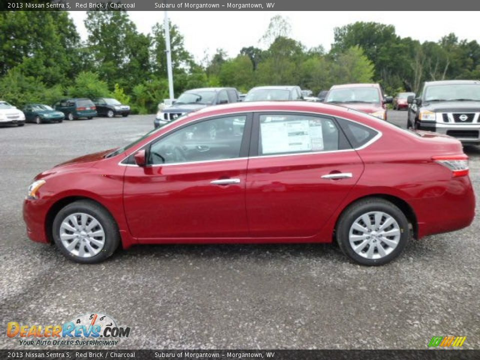 2013 Nissan Sentra S Red Brick Charcoal Photo 4