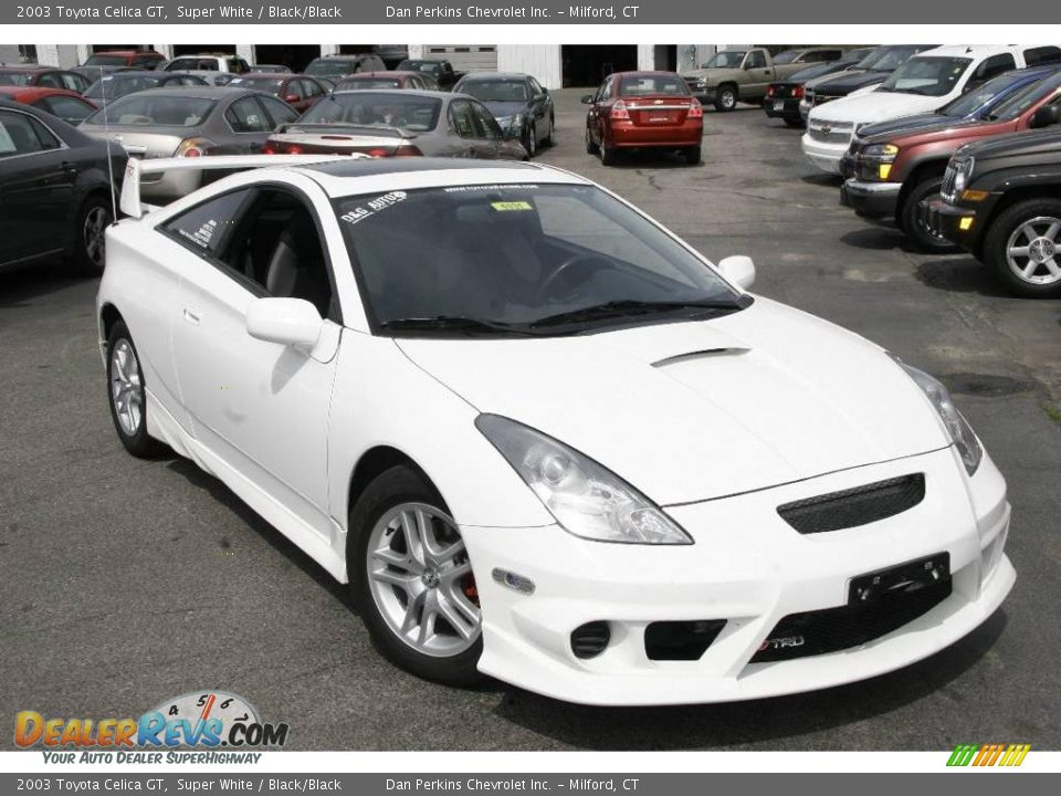 2003 toyota celica gt super white black black photo 3. Black Bedroom Furniture Sets. Home Design Ideas