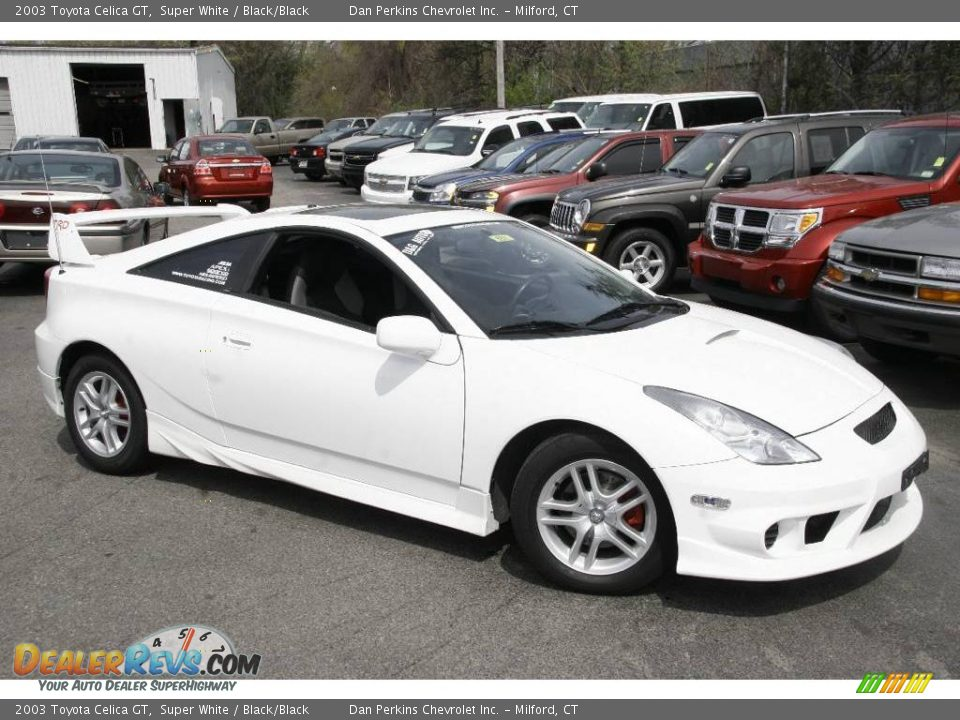 2003 toyota celica gt super white black black photo 4. Black Bedroom Furniture Sets. Home Design Ideas