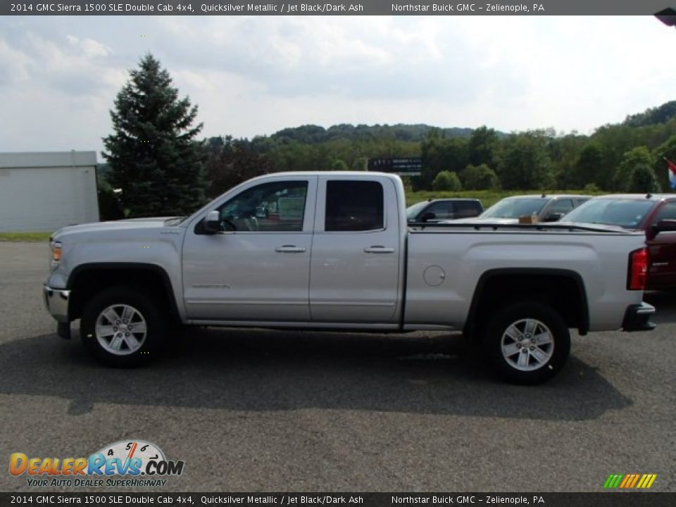 2014 gmc sierra 1500 sle double cab 4x4 quicksilver metallic jet black dark ash photo 1. Black Bedroom Furniture Sets. Home Design Ideas