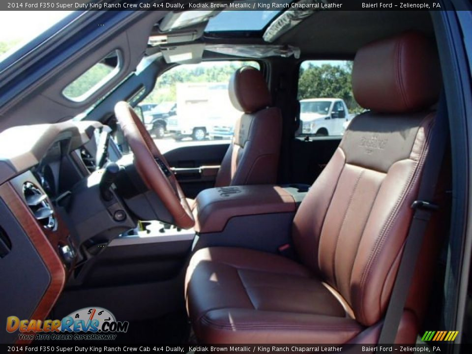king ranch chaparral leather interior  ford  super duty king ranch crew cab  dually
