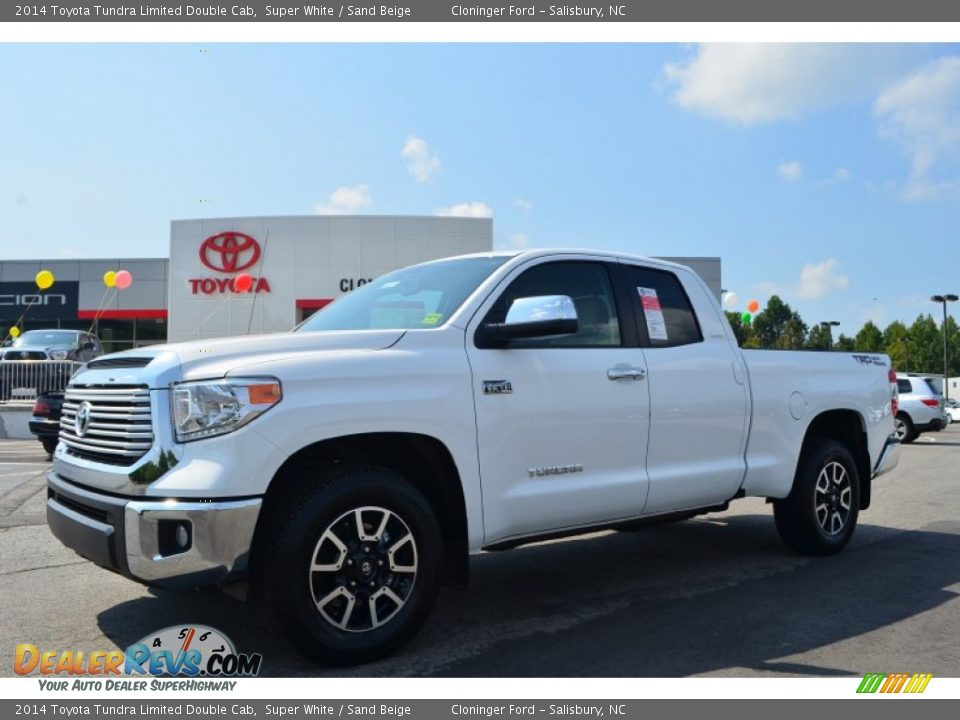2014 Toyota Tundra Limited Double Cab Super White / Sand Beige Photo ...