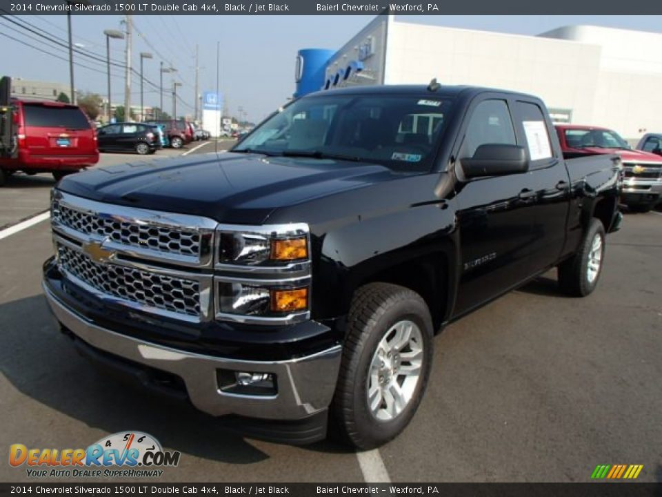 2014 chevrolet silverado 1500 lt double cab 4x4 black jet black photo 2. Black Bedroom Furniture Sets. Home Design Ideas