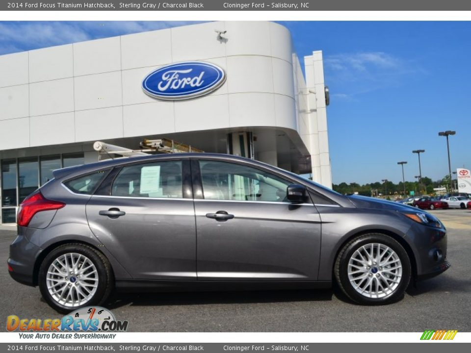2014 ford focus titanium hatchback sterling gray charcoal black photo 2. Black Bedroom Furniture Sets. Home Design Ideas