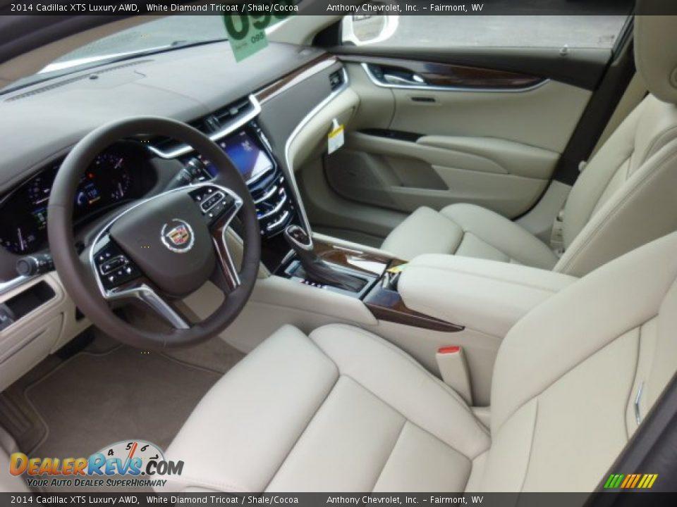 Shale Cocoa Interior 2014 Cadillac Xts Luxury Awd Photo 16