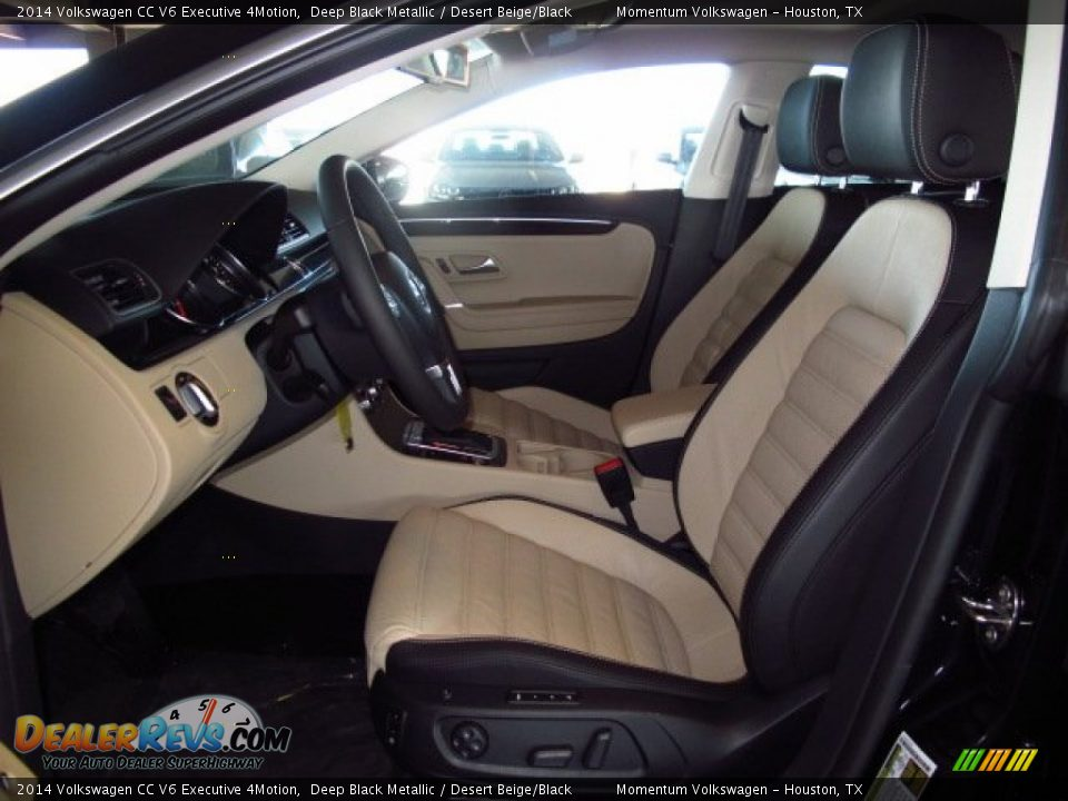 Desert Beige/Black Interior - 2014 Volkswagen CC V6 Executive 4Motion Photo #10