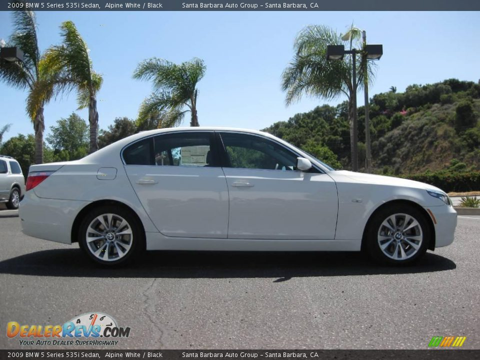 2009 BMW 5 Series 535i Sedan Alpine White Black Photo 2