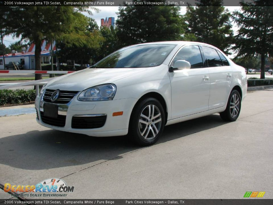 2006 volkswagen jetta tdi sedan campanella white pure beige photo 3. Black Bedroom Furniture Sets. Home Design Ideas
