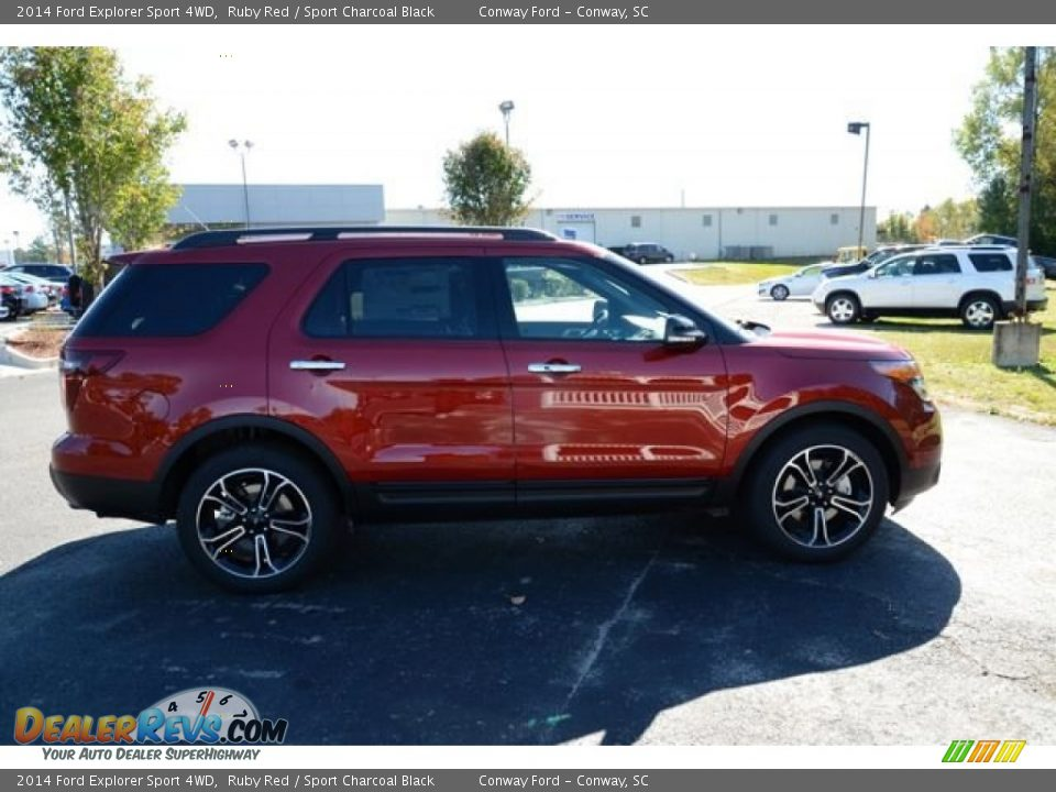 2014 ford explorer sport 4wd ruby red sport charcoal black photo 4. Black Bedroom Furniture Sets. Home Design Ideas
