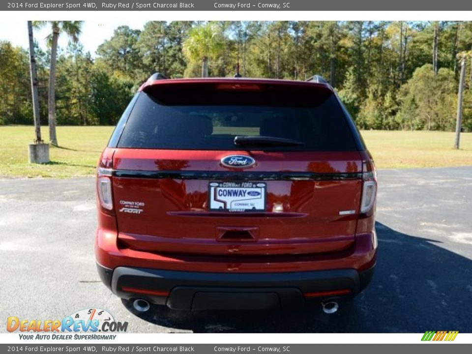 2014 Ford Explorer Sport 4wd Ruby Red Sport Charcoal Black Photo 6 Dealerrevs Com