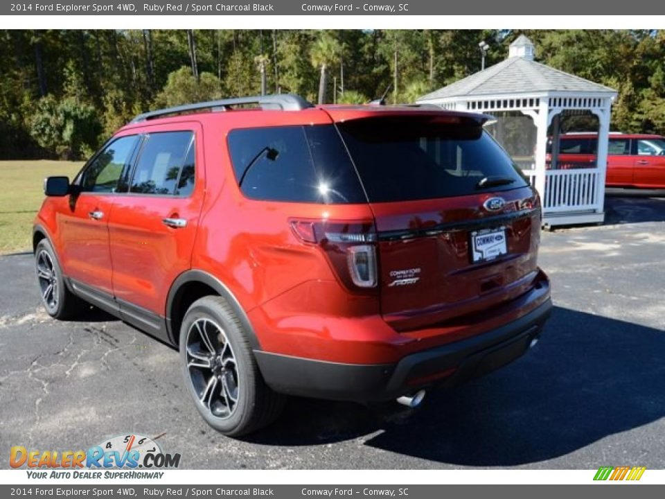 2014 ford explorer sport 4wd ruby red sport charcoal black photo 9. Black Bedroom Furniture Sets. Home Design Ideas