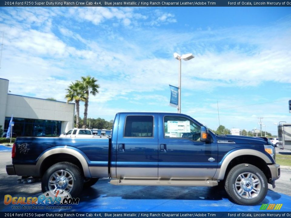 2014 ford f250 super duty king ranch crew cab 4x4 blue jeans metallic king ranch chaparral