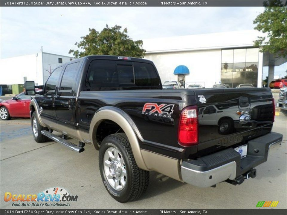 2014 Ford F250 Super Duty Lariat Crew Cab 4x4 Kodiak Brown Metallic