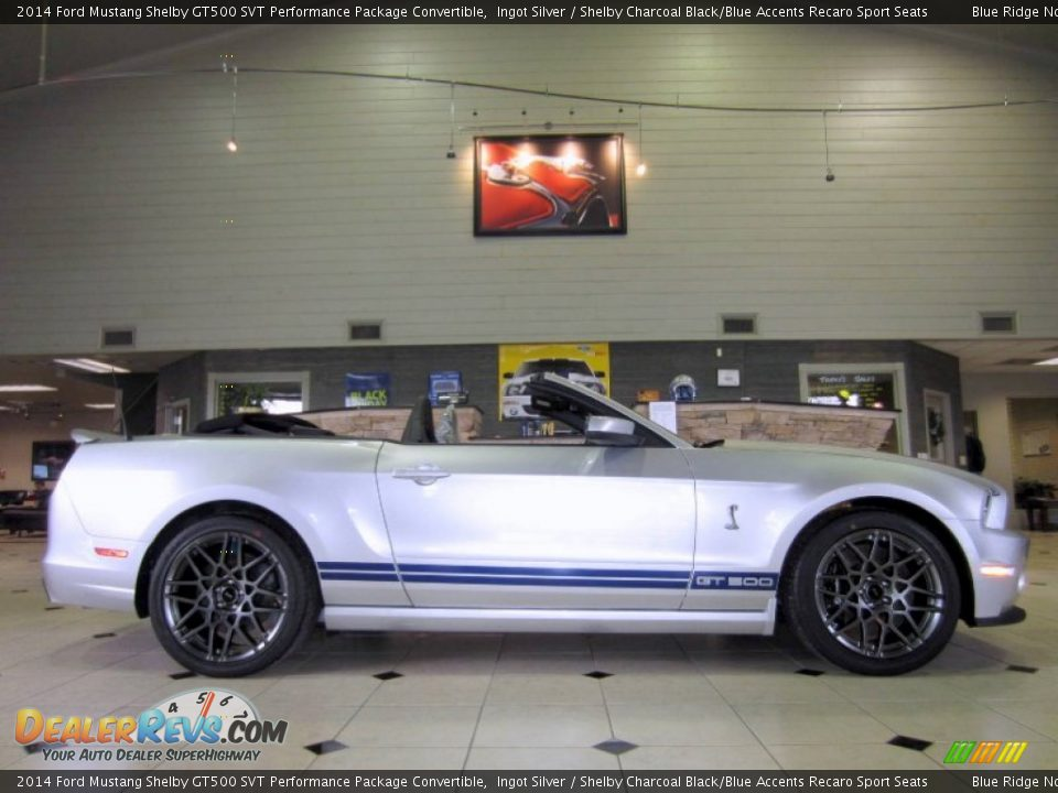 ingot silver 2014 ford mustang shelby gt500 svt performance package convertible photo 3. Black Bedroom Furniture Sets. Home Design Ideas