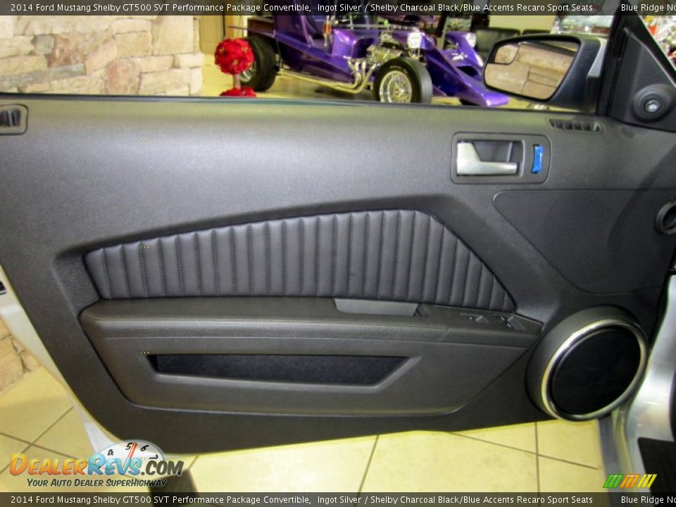 Door Panel of 2014 Ford Mustang Shelby GT500 SVT Performance Package Convertible Photo #17