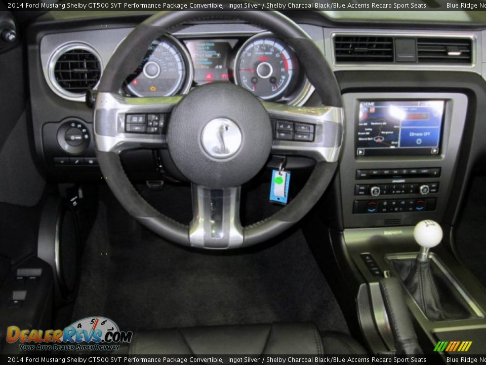 Dashboard of 2014 Ford Mustang Shelby GT500 SVT Performance Package Convertible Photo #23